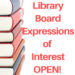 Library Board Expressions of Interest