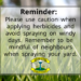 Reminder:  Use Caution When Applying Herbicides
